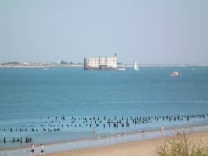 Fort Boyard - La plage des Saumonards